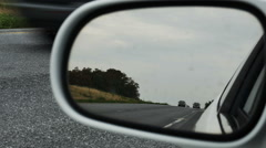 2037 Cars Driving on Highway Rear View Mirror, HD Stock Footage