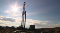 Muddy Drilling Rig Site Stock Footage