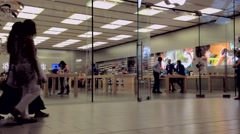apple store in coquitlam center mall - stock footage