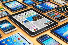 Mobile devices - stock illustration