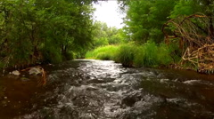 Wild Creek Coming Straight At Camera- Ultra Close Up Stock Footage