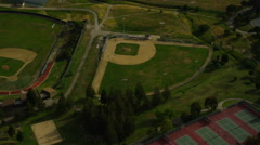 Aerial baseball pitch - stock footage