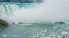 Niagara Falls view from Skylon Tower. Stock Footage