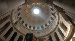 Jerusalem 4K Church of the Holy Sepulchre Tomb tilt 25P Stock Footage