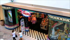 Disney storefront shopping mall Stock Footage