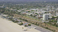 Aerial California Suburban Homes Stock Footage