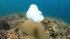 Plastic Bags Underwater - stock footage