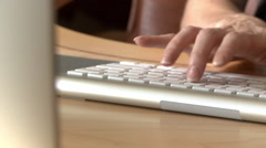 Close-up of Woman's hands Typing on a Keyboard Stock Footage
