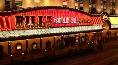 LAS VEGAS - BILL'S GAMBLIN HALL AND SALOON Stock Footage