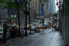 Rainy day, new york city Stock Photos