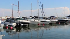 Marina at harbor in Gdynia, Poland Stock Footage
