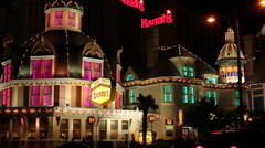 LAS VEGAS - CASINO ROYALE - HARRAHS Stock Footage