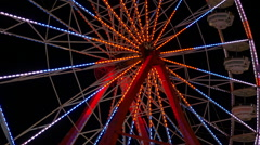 Ferris Wheel Spinning at Night 1 Stock Footage