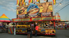 Carnival Concession Stand 1 Stock Footage