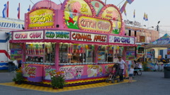 Carnival Concession Stand 2 Stock Footage