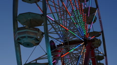 Ferris Wheel Spinning at Twilight 2 Stock Footage