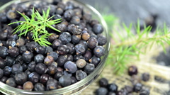 Portion of juniper berries (not loopable) Stock Footage