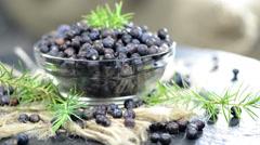 Heap of juniper berries (not loopable) Stock Footage