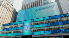 Barclays New York City headquarter building exterior Stock Footage