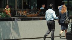 JP Morgan Chase New York City headquarter building Stock Footage