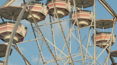 Ferris Wheel Spinning Closeup 2 Stock Footage