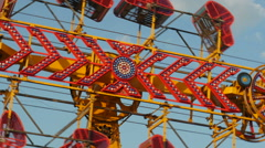 Zipper Carnival Ride Spinning 1 Stock Footage