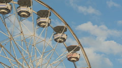 Ferris Wheel Spinning Closeup 3 Stock Footage