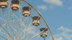 Ferris Wheel Stationary Closeup 1 Stock Footage