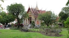 Wat Chalong in Phuket Thailand - stock footage