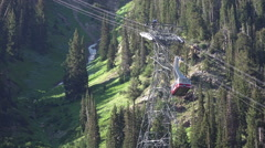 Aerial tram Snowbird Utah summer resort 4K 044 Stock Footage