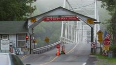 4K Dingman's Ferry Bridge and Toll Plaza 3 Stock Footage