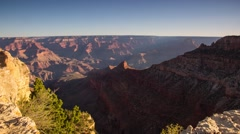 Dolly shot of Grand Canyon with morning lights Stock Footage