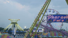 4K Carnival Rides at Twilight Timelapse 1 Stock Footage