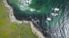 Aerial view of Ocean and coastline Stock Footage