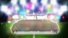soccer stadium night - stock illustration