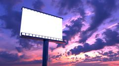 billboard in twilight - stock illustration