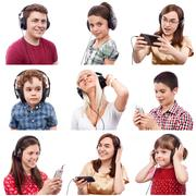 people listening - stock photo