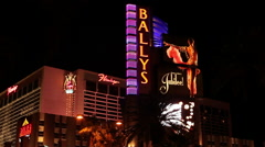 LAS VEGAS - BALLY'S - FLAMINGO Stock Footage
