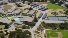Aerial view of California School College - stock footage