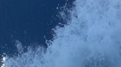 View from a boat, vacation trip, Greece. Waves from the boat engine. Stock Footage