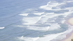 Aerial view of large waves on Californian coast - stock footage