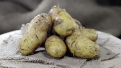 Portion of potatoes (not loopable) Stock Footage