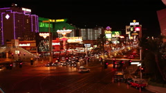 LAS VEGAS - VEGAS STRIP TRAFFIC MGM GRAND 2 Stock Footage
