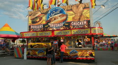 4K Carnival Concession Stand 1 Stock Footage