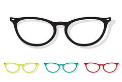 Vector image of glasses Stock Illustration