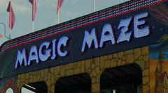 4K Magic Maze Sign 1 Stock Footage