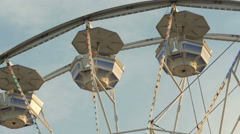 4K Ferris Wheel Spinning Closeup 1 Stock Footage