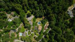 Aerial California Suburban Homes and forest - stock footage