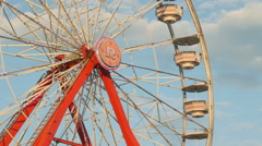4K Ferris Wheel Spinning 3 Stock Footage