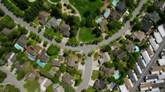 Aerial California Suburban Homes - stock footage